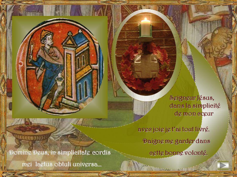 Devant le peuple en prière, Salomon offre à Dieu la