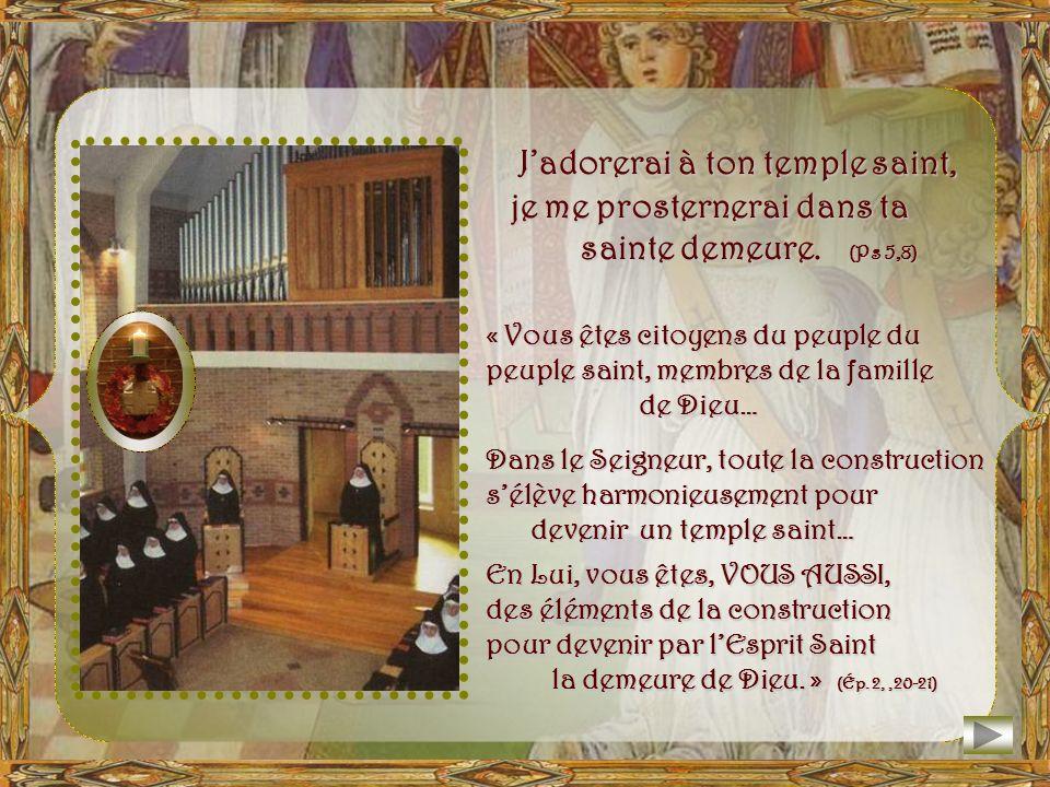 Par la Présence de Jésus, le Fils du Père devenu homme, le véritable temple, le Temple nouveau et éternel est lHumanité sacrée du Verbe incarné.