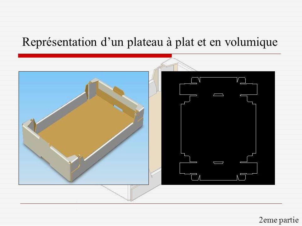 Représentation dun plateau à plat et en volumique 2eme partie