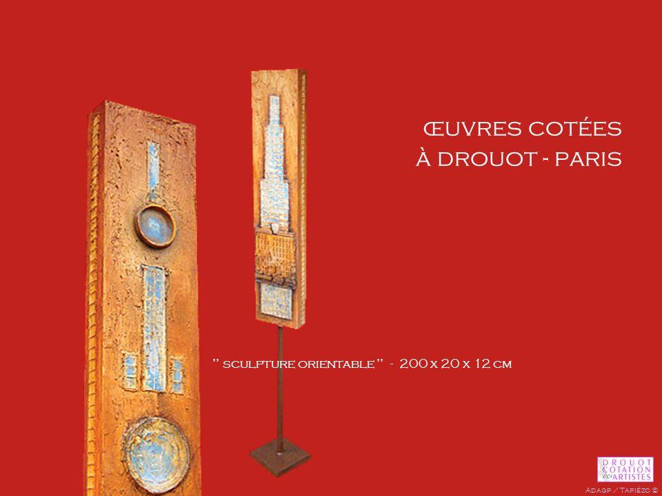 œuvres cotées à drouot - paris sculpture orientable - 200 x 20 x 12 cm Adagp / Tapiézo ©