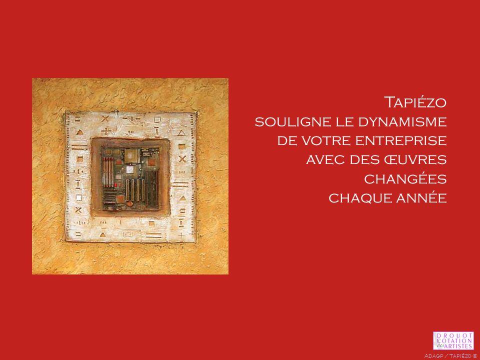 de votre entreprise avec des œuvres changées chaque année Tapiézo souligne le dynamisme hiéroglyphes - 50 x 50 cm Adagp / Tapiézo ©