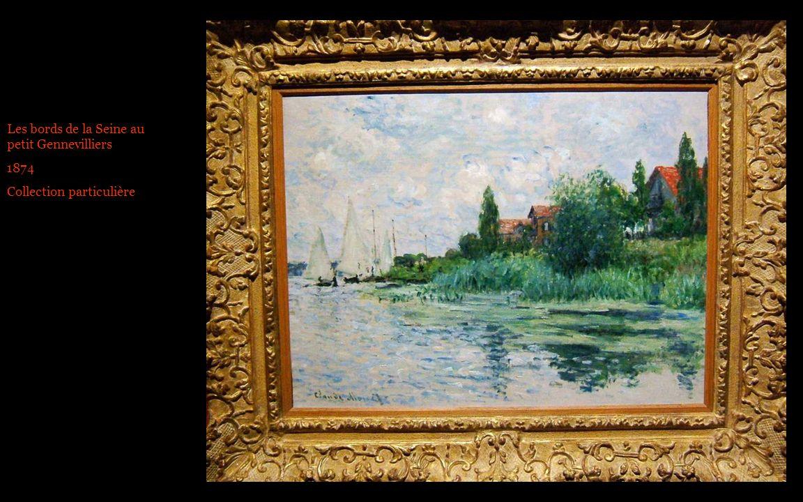 Les bords de la Seine au petit Gennevilliers 1874 Collection particulière