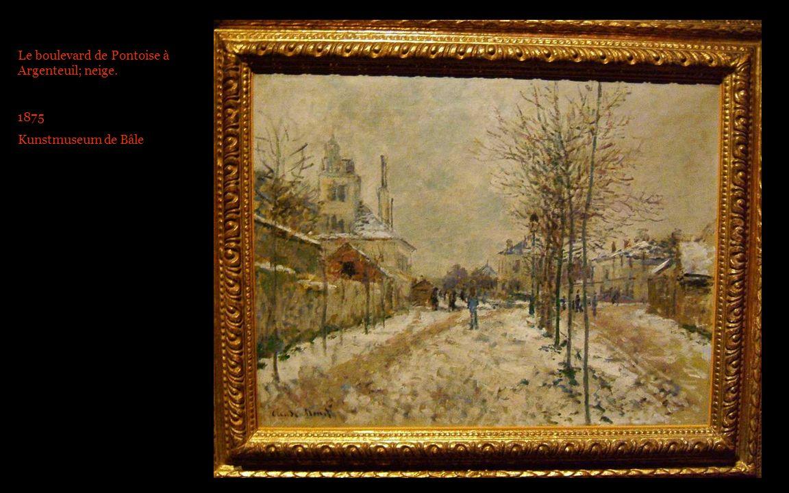 Le boulevard de Pontoise à Argenteuil; neige. 1875 Kunstmuseum de Bâle
