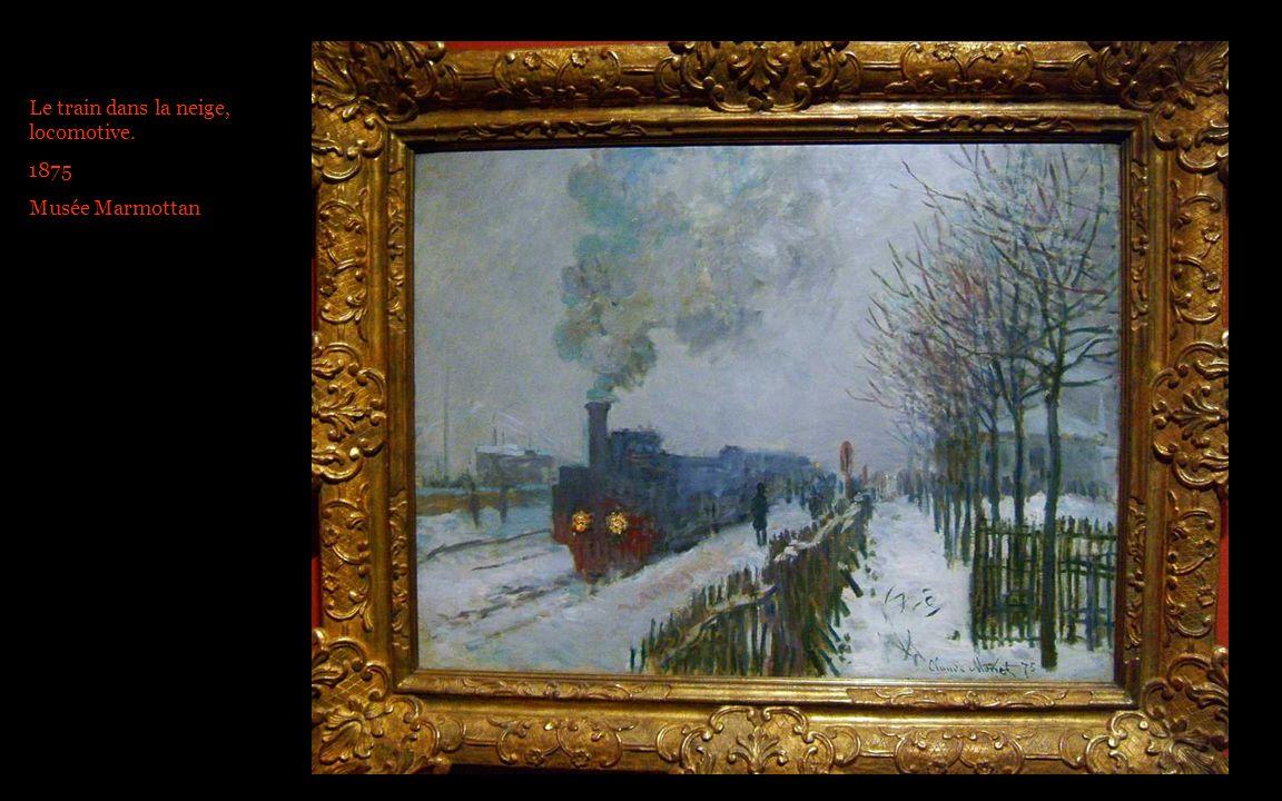 Le train dans la neige, locomotive. 1875 Musée Marmottan