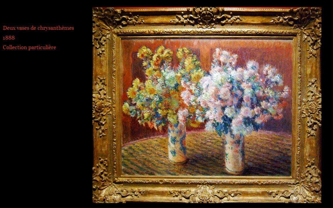 Deux vases de chrysanthèmes 1888 Collection particulière