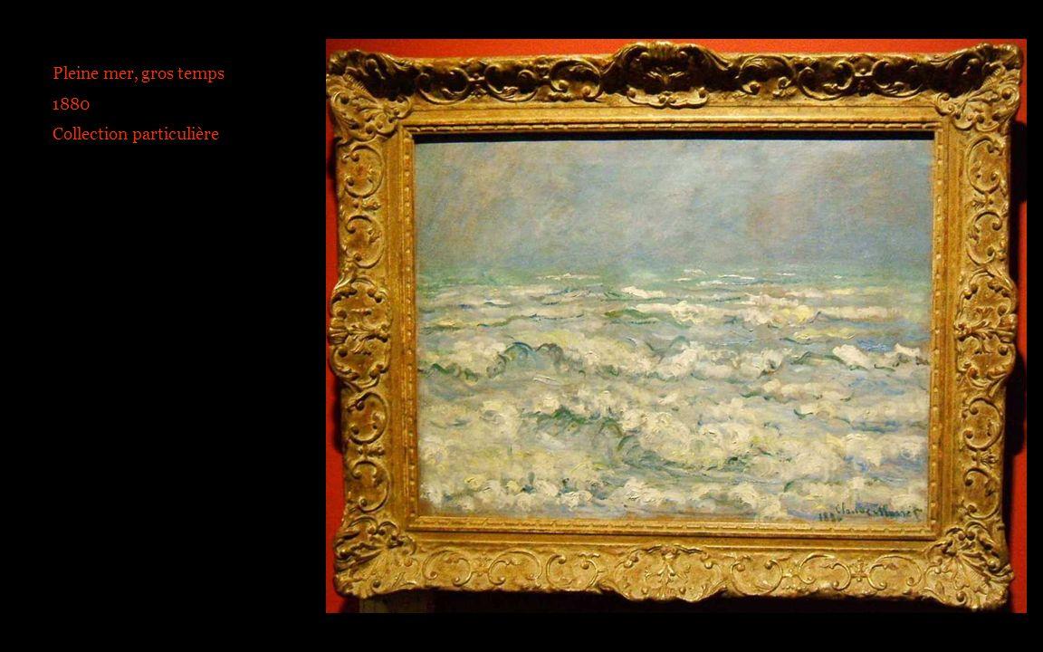 Pleine mer, gros temps 1880 Collection particulière