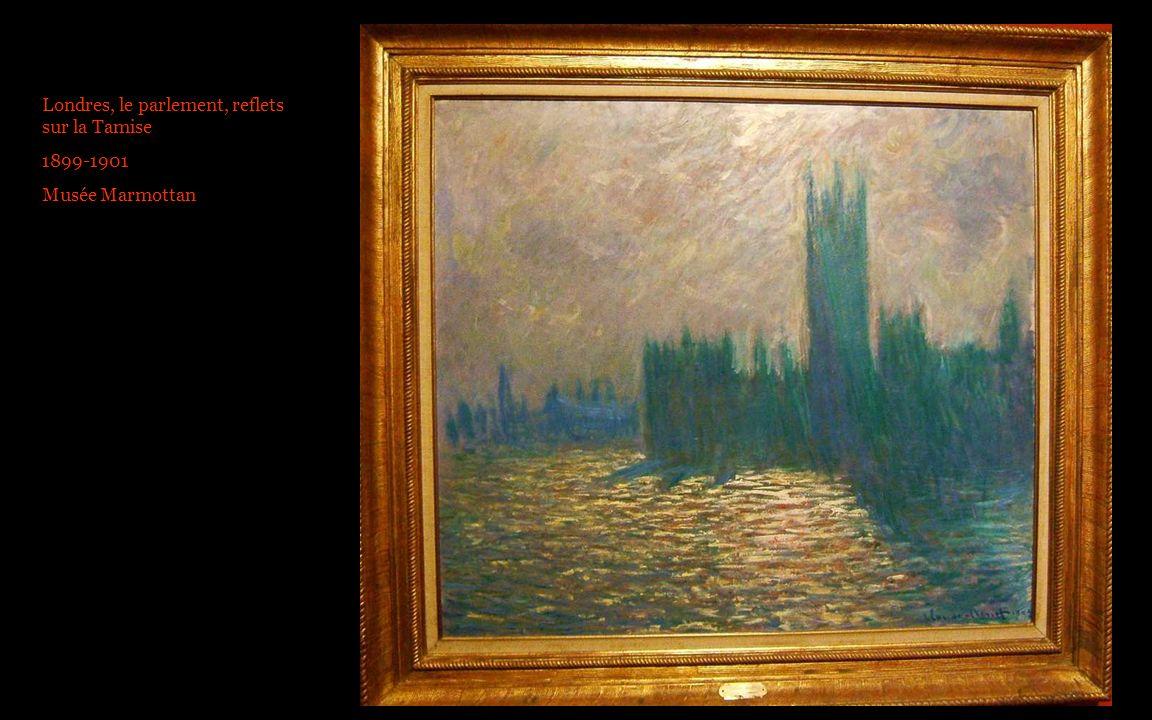 Londres, le parlement, reflets sur la Tamise 1899-1901 Musée Marmottan