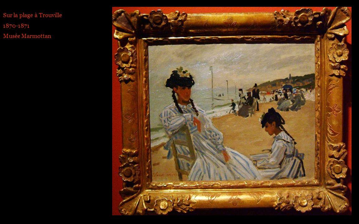 Sur la plage à Trouville 1870-1871 Musée Marmottan