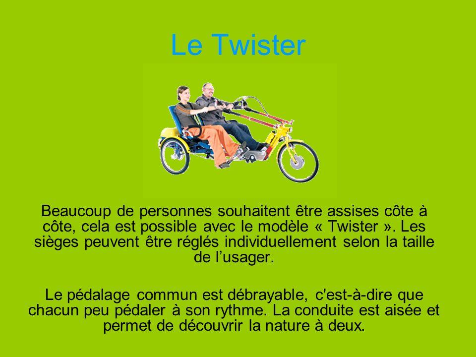 Le Twister Beaucoup de personnes souhaitent être assises côte à côte, cela est possible avec le modèle « Twister ». Les sièges peuvent être réglés ind