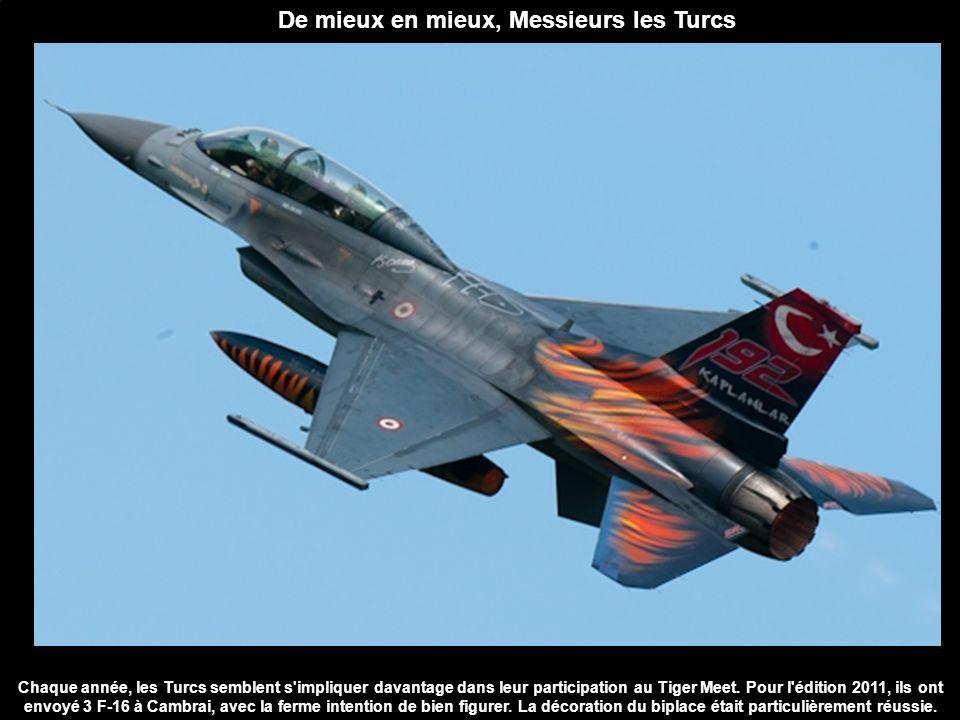 Chaque année, les Turcs semblent s'impliquer davantage dans leur participation au Tiger Meet. Pour l'édition 2011, ils ont envoyé 3 F-16 à Cambrai, av