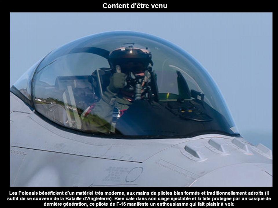Content d'être venu Les Polonais bénéficient d'un matériel très moderne, aux mains de pilotes bien formés et traditionnellement adroits (il suffit de