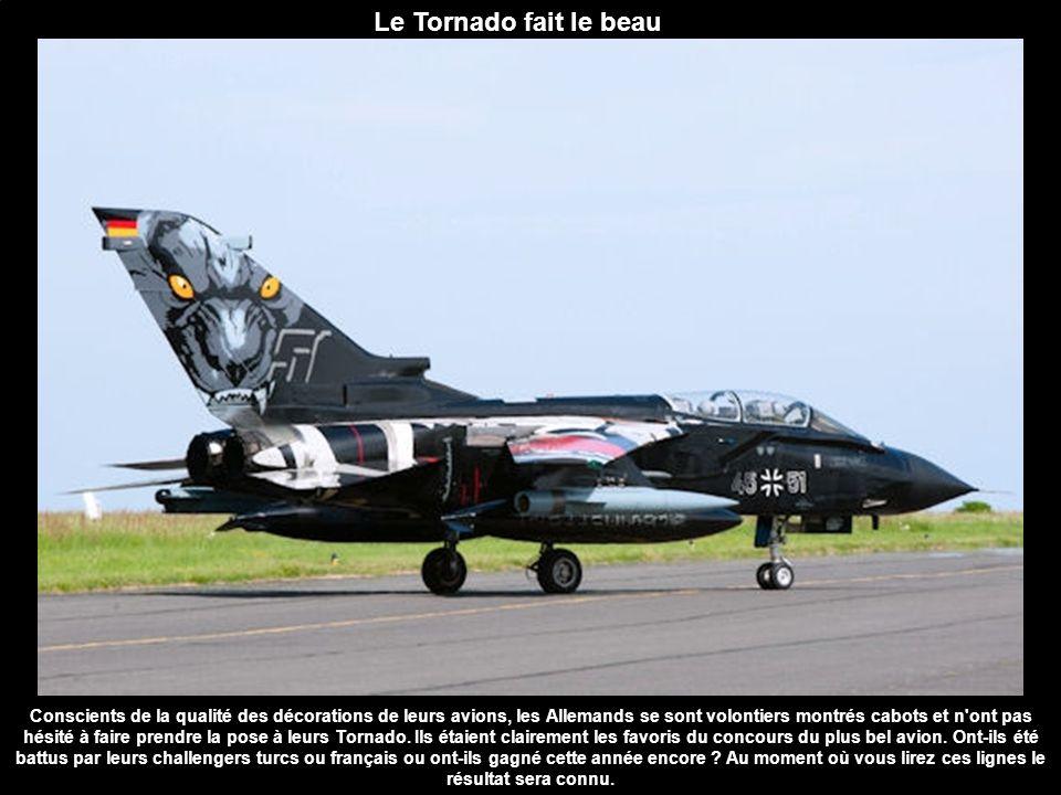 Le Tornado fait le beau Conscients de la qualité des décorations de leurs avions, les Allemands se sont volontiers montrés cabots et n'ont pas hésité