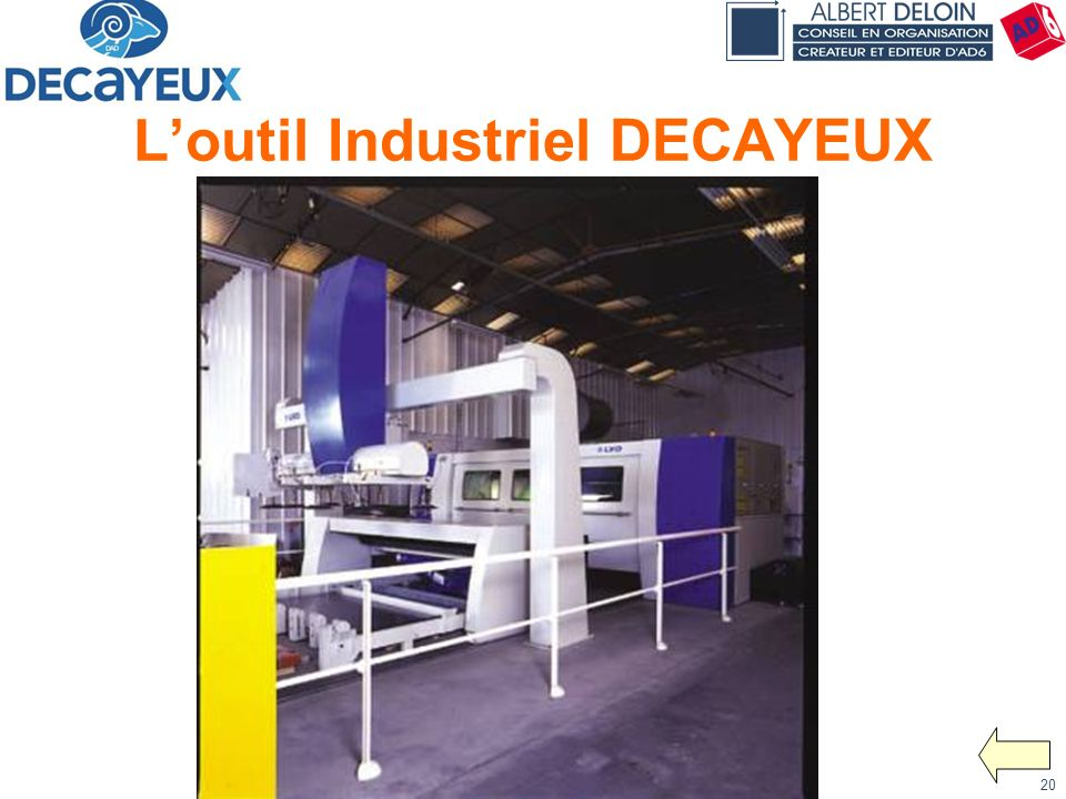 Présentation DECAYEUX - Albert DELOIN SAS20 Loutil Industriel DECAYEUX