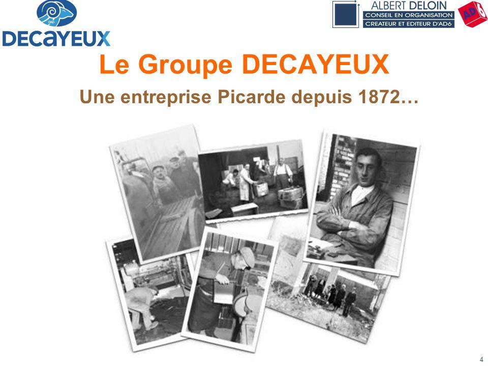 Présentation DECAYEUX - Albert DELOIN SAS4 Le Groupe DECAYEUX Une entreprise Picarde depuis 1872…