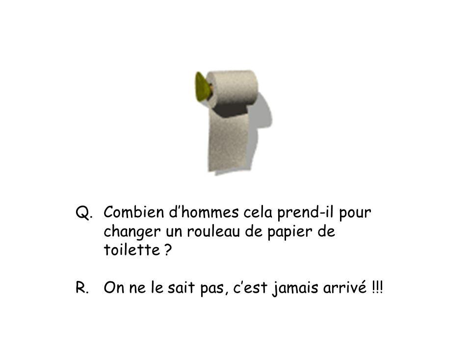 Q.Combien dhommes cela prend-il pour changer un rouleau de papier de toilette .