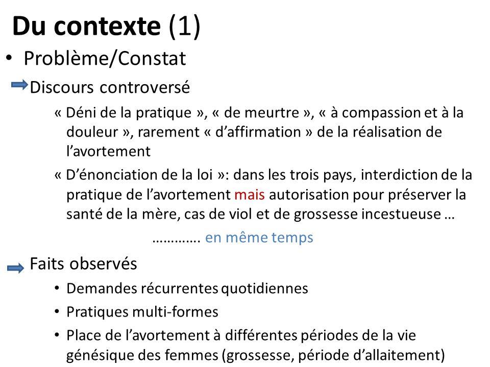 Du contexte (1) Problème/Constat Discours controversé « Déni de la pratique », « de meurtre », « à compassion et à la douleur », rarement « daffirmati