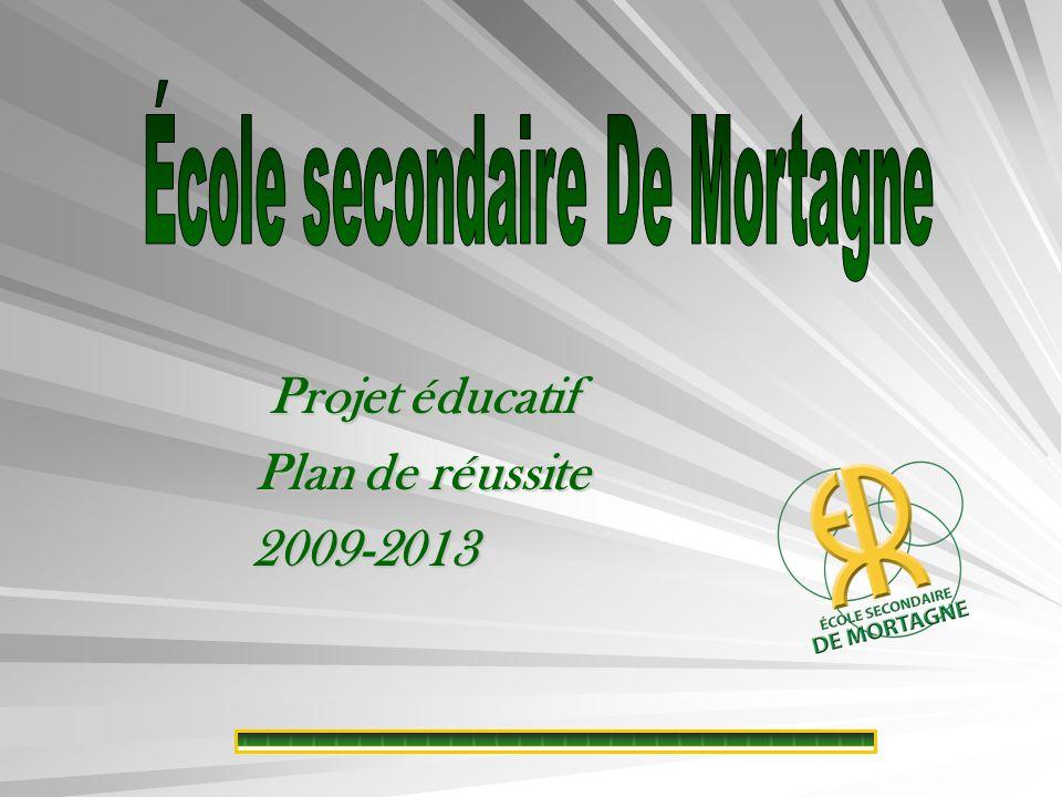 Projet éducatif Plan de réussite 2009-2013 2009-2013