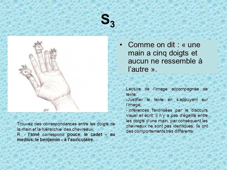 Comme on dit : « une main a cinq doigts et aucun ne ressemble à lautre ».