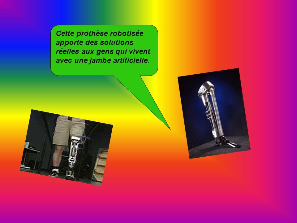 Cette prothèse robotisée apporte des solutions réelles aux gens qui vivent avec une jambe artificielle.