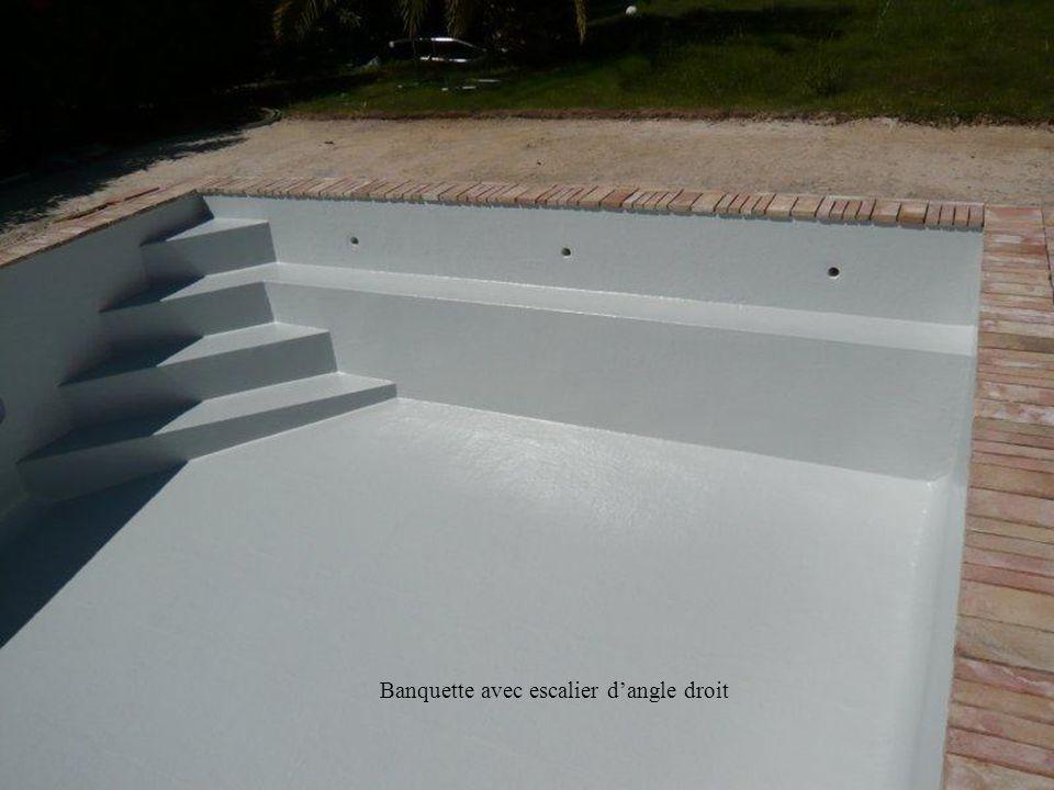 Exemples descaliers créés ou existants Lors de notre visite sur place, la piscine ou bassin peut posséder une échelle de bain, un escalier ou une plag