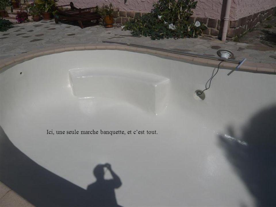 Dans un bassin de forme ovale, il ny a pas beaucoup dautre solution. Nous avons trouvé celle-ci très pratique et très fonctionnelle.