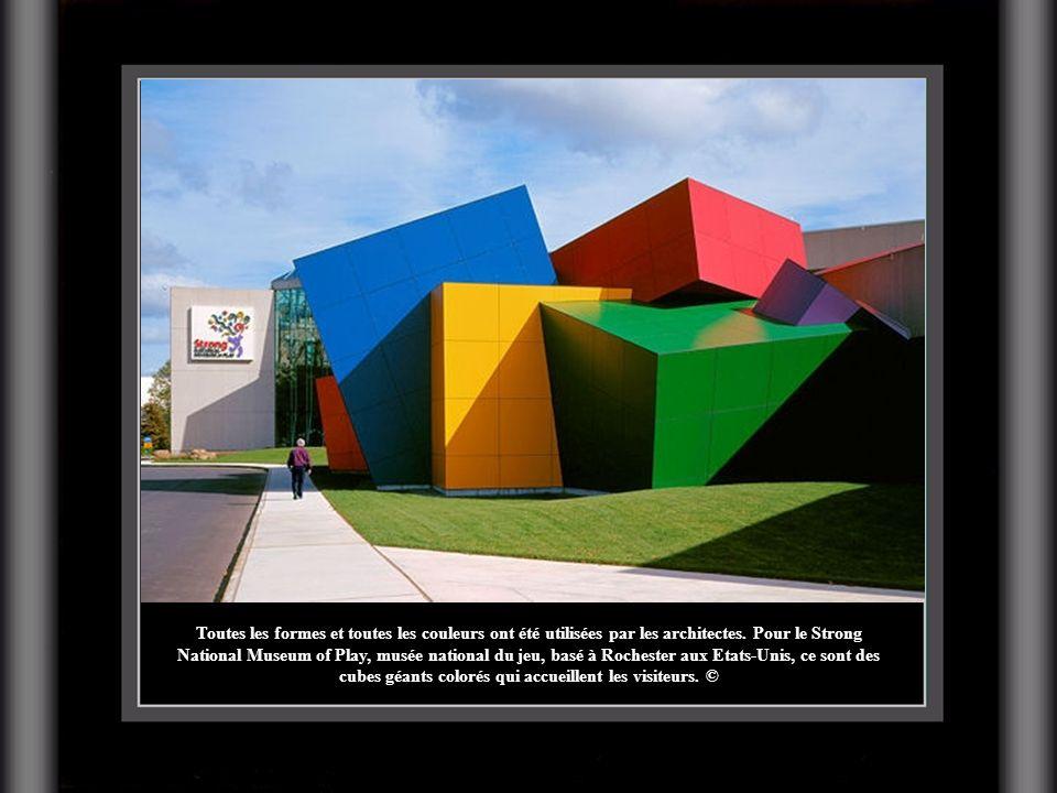Toutes les formes et toutes les couleurs ont été utilisées par les architectes. Pour le Strong National Museum of Play, musée national du jeu, basé à