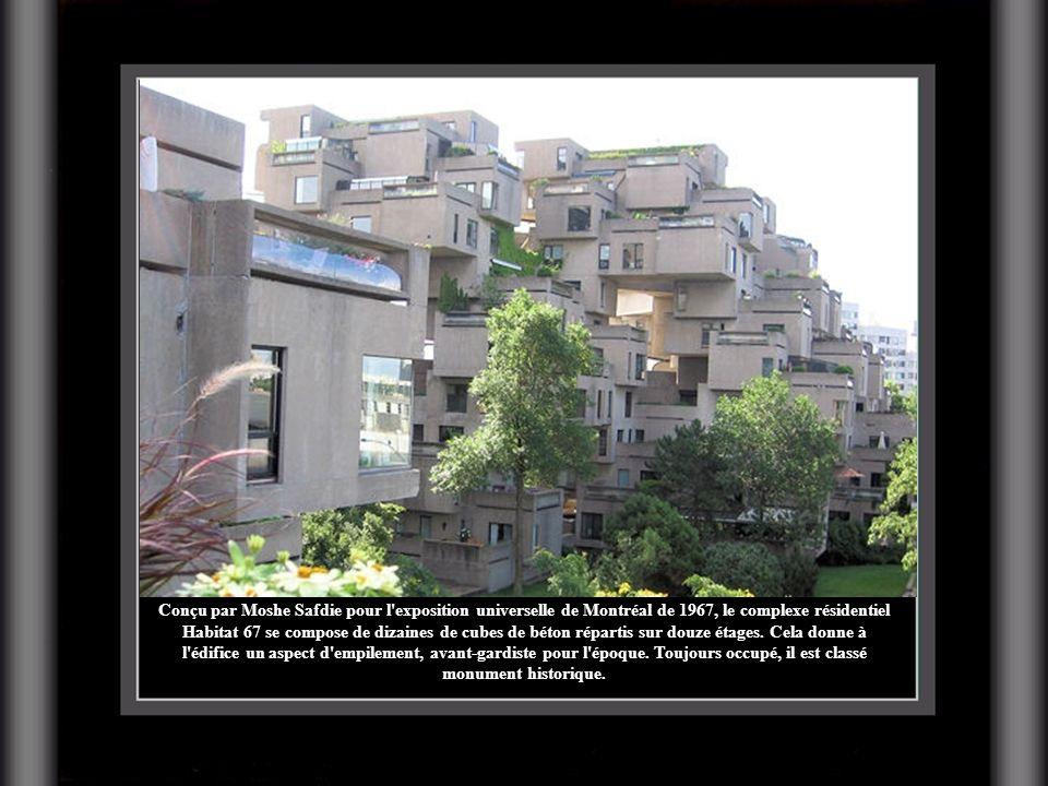 Conçu par Moshe Safdie pour l'exposition universelle de Montréal de 1967, le complexe résidentiel Habitat 67 se compose de dizaines de cubes de béton
