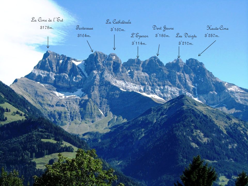 Les Dents du Midi Côté Vallée dIlliez
