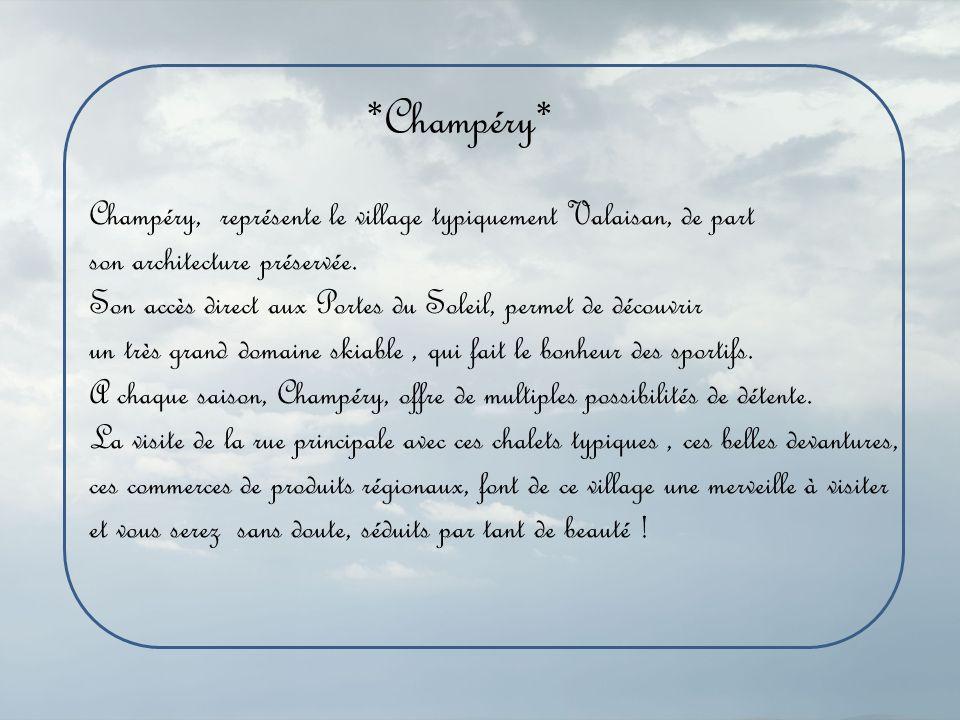 Maison de Champéry