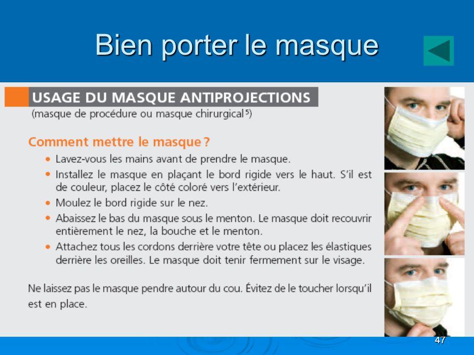 47 Bien porter le masque