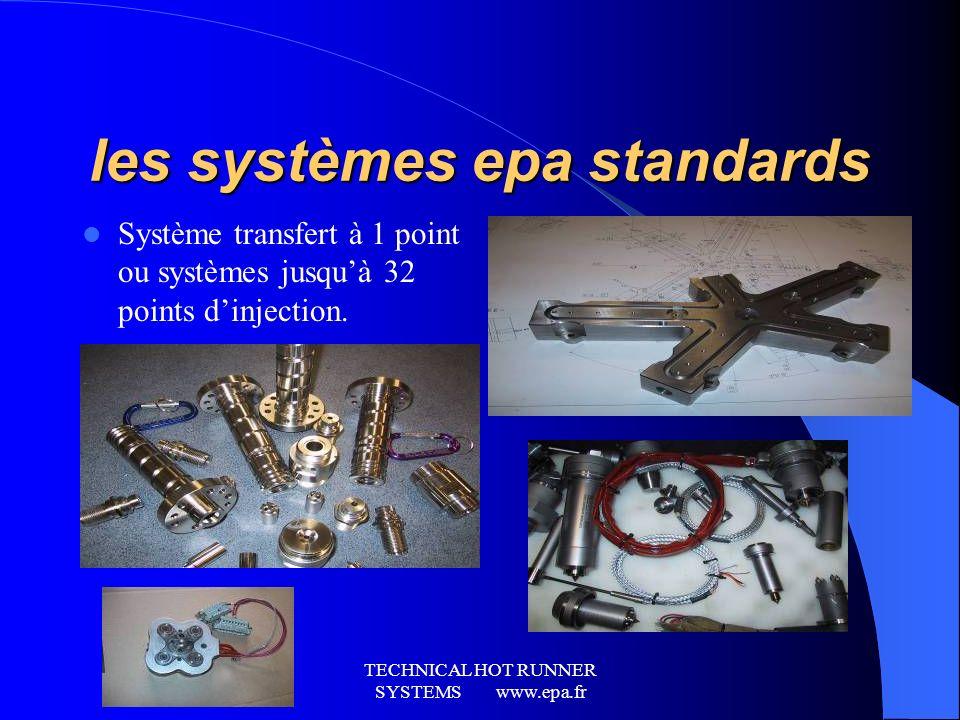 TECHNICAL HOT RUNNER SYSTEMS www.epa.fr IMPLANTATIONS COMMERCIALES epa. Europe: France: (siège) Lyon, Lille, nantes. Espagne: Barcelona, Madrid, valen