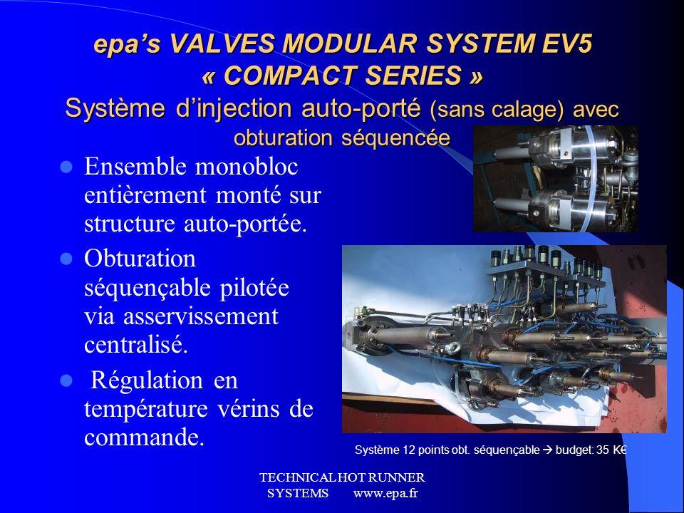 TECHNICAL HOT RUNNER SYSTEMS www.epa.fr Le domaine dactivité pièces de structure BATIMENT- JOUET-EMBALLLAGE… Linjection-compression adaptée aux pièces