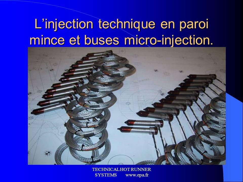 TECHNICAL HOT RUNNER SYSTEMS www.epa.fr Ensemble monobloc entièrement monté sur structure auto-portée. Obturation séquençable pilotée via asservisseme