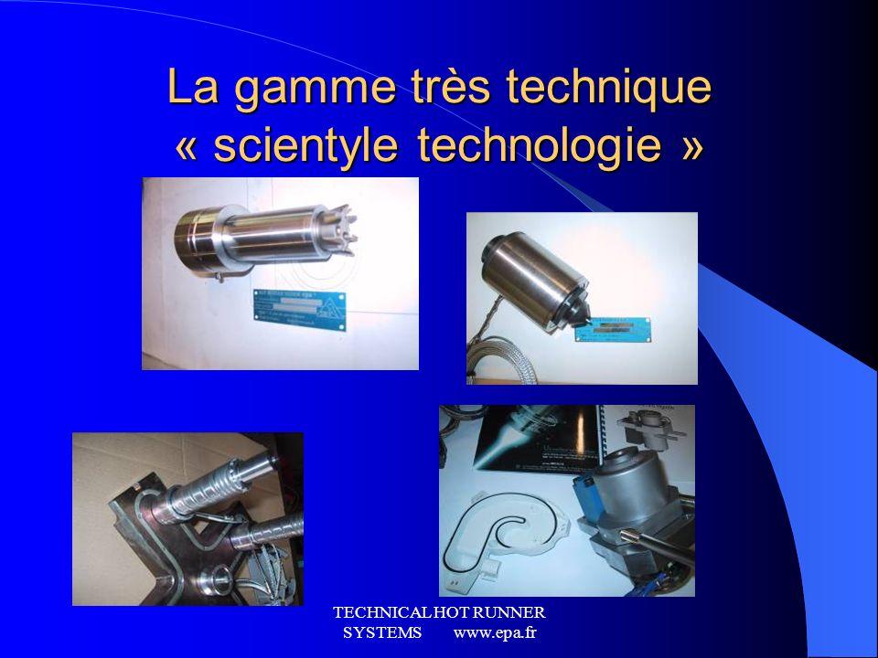 TECHNICAL HOT RUNNER SYSTEMS www.epa.fr Linjection bi-matière, bi composant et Surmoulage… Buse grande longueur pour enjoliveur de roue. (injection te