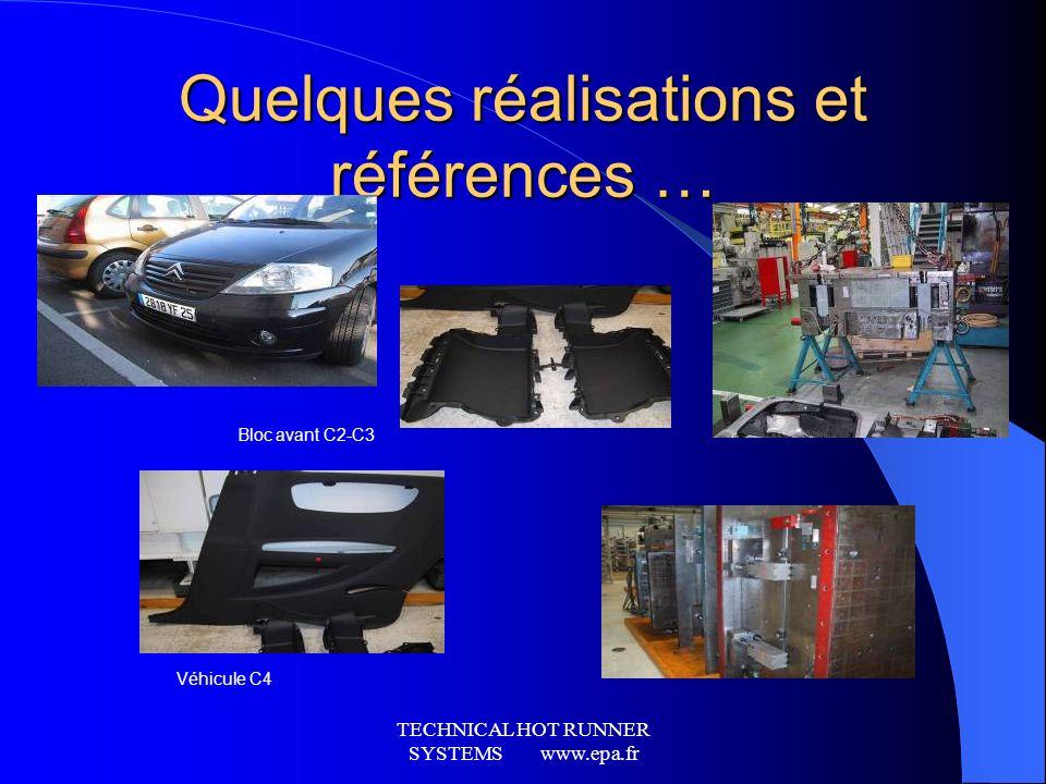 TECHNICAL HOT RUNNER SYSTEMS www.epa.fr Notre domaine dactivité AUTOMOBILE La pièce automobile daspect: Pare-chocs, tableau de bord, console, boite à