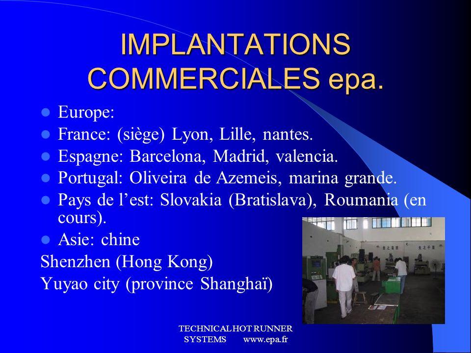 TECHNICAL HOT RUNNER SYSTEMS www.epa.fr Quelques réalisations et références … Véhicule C4 Bloc avant C2-C3