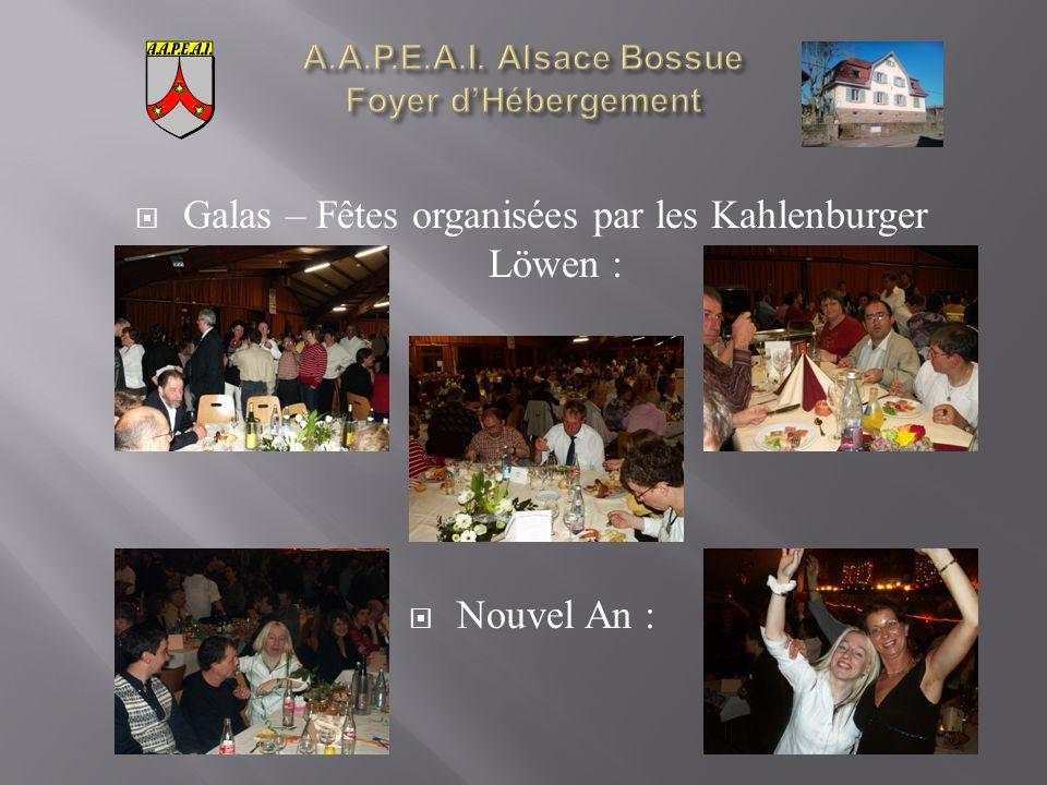Galas – Fêtes organisées par les Kahlenburger Löwen : Nouvel An :