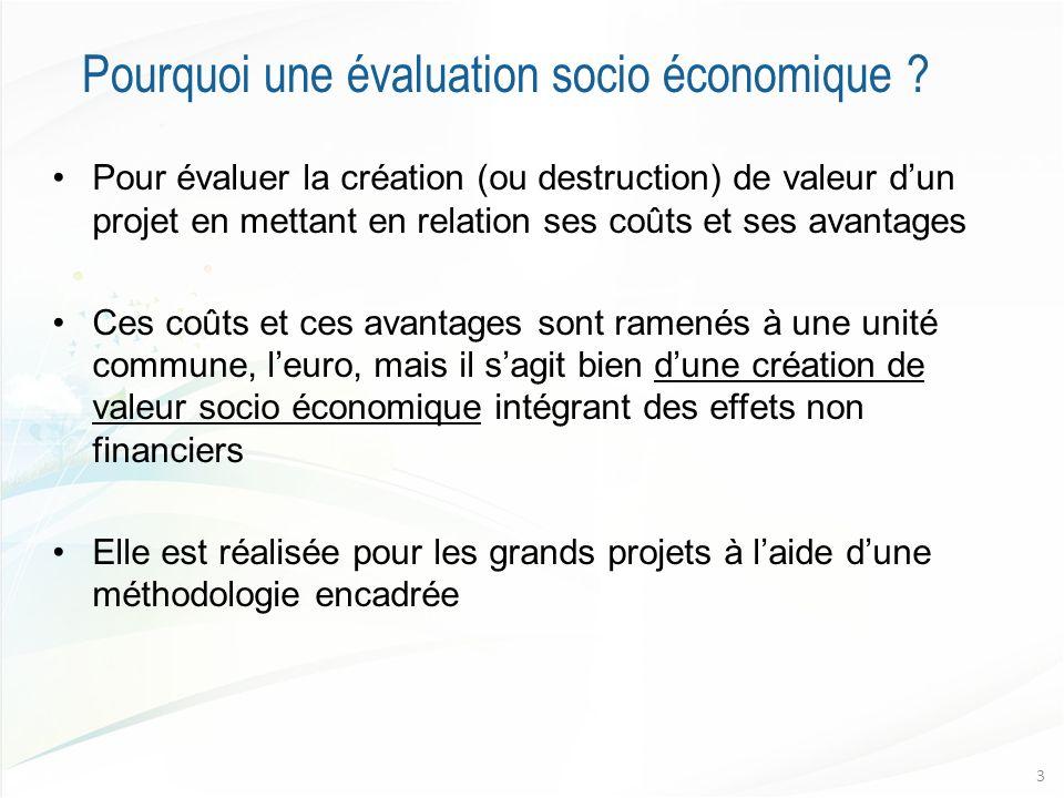 Pourquoi une évaluation socio économique .
