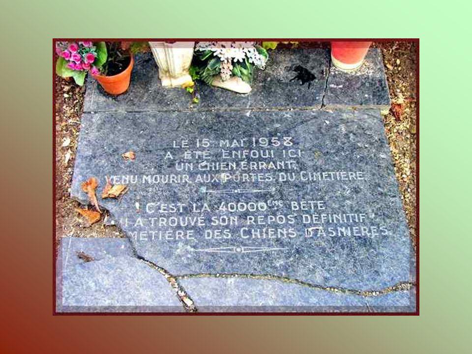 Cest à lentrée du cimetière, autour du monument érigé en lhonneur de Barry, quont été posées les premières dalles funéraires. Au premier plan, la tomb