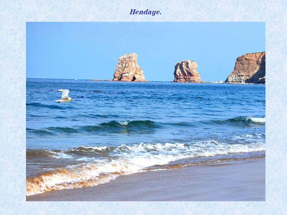 La baie dHendaye depuis Jaizkibel (Espagne).