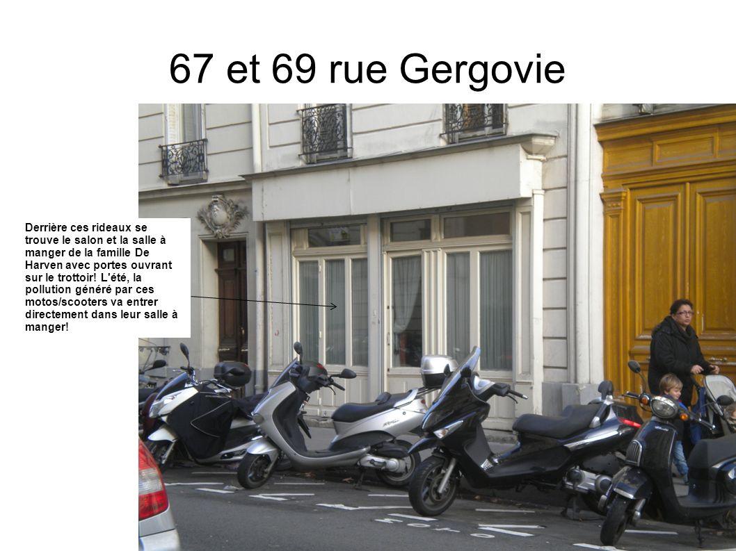 Places insuffisantes en face du 50 rue de Gergovie