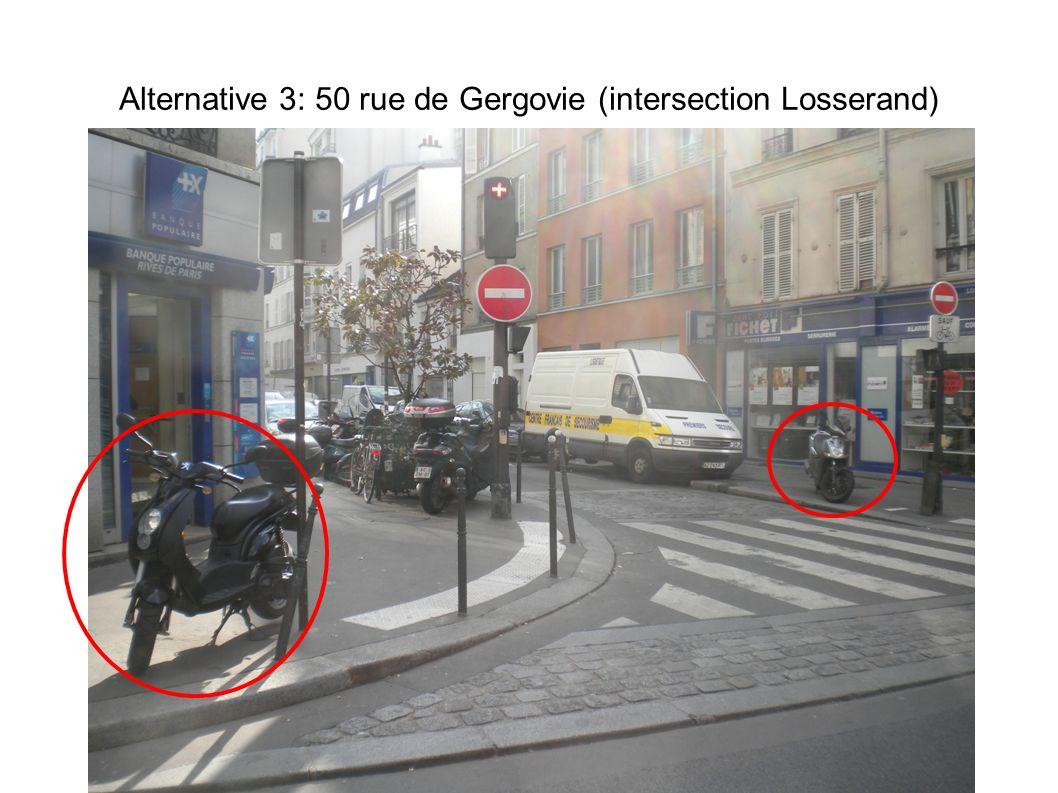 Alternative 3: 50 rue de Gergovie (intersection Losserand)