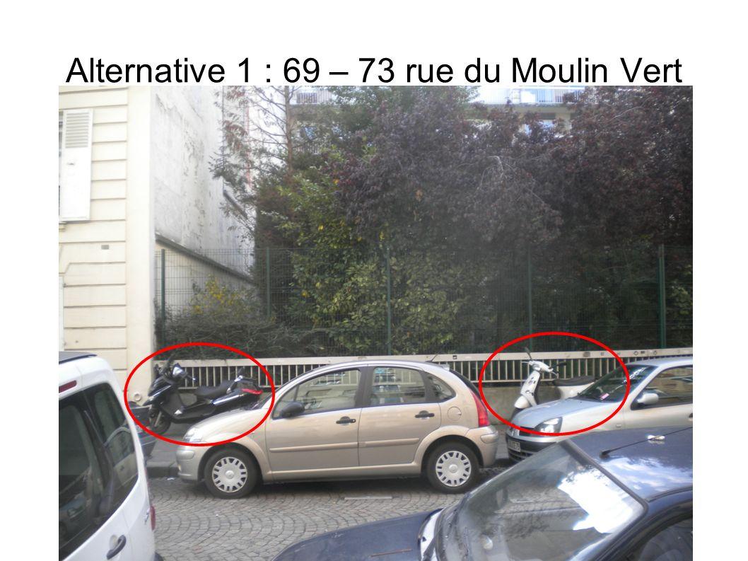 Places insuffisantes au 74 rue du Moulin Vert