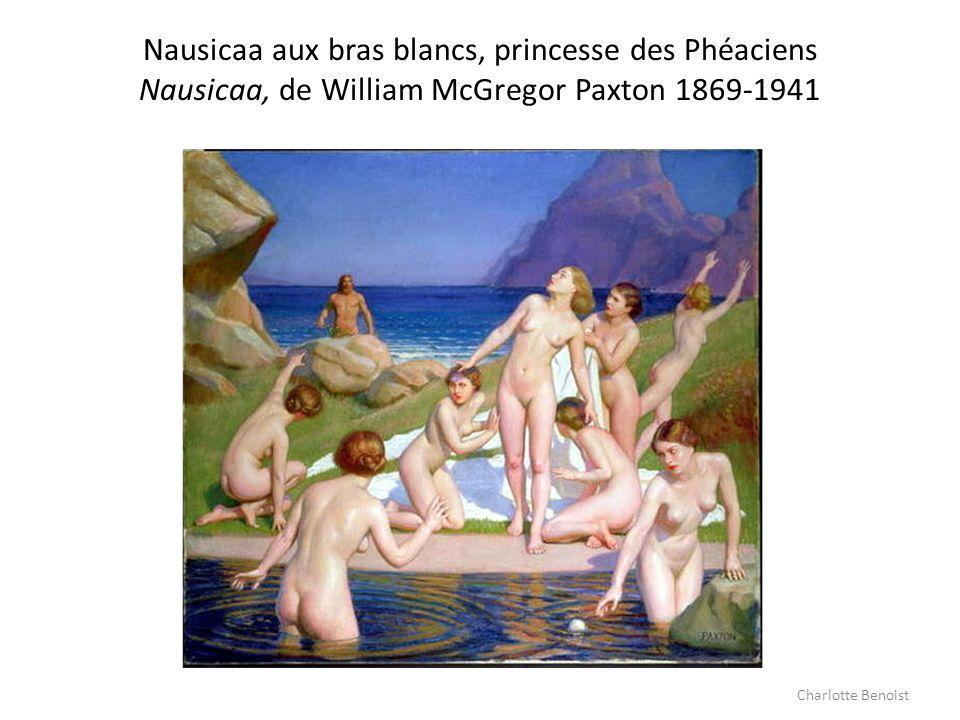 Nausicaa aux bras blancs, princesse des Phéaciens Nausicaa, de William McGregor Paxton 1869-1941 Charlotte Benoist