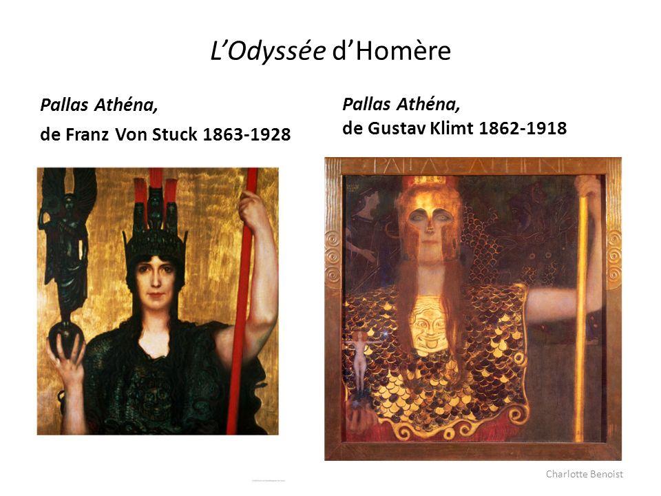 LOdyssée dHomère Pallas Athéna, de Franz Von Stuck 1863-1928 Pallas Athéna, de Gustav Klimt 1862-1918 Charlotte Benoist