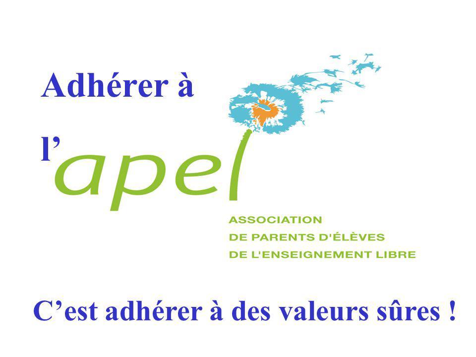 Adhérer à l Cest adhérer à des valeurs sûres !