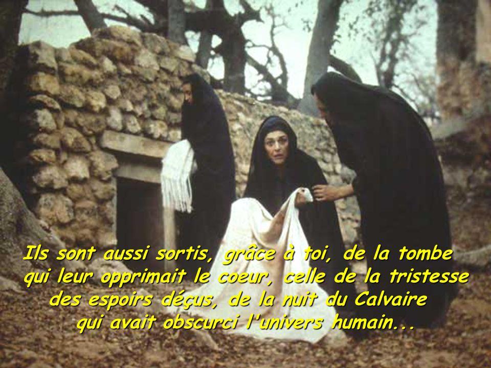 Toute l humanité a été libérée de la domination des puissances de la mort.