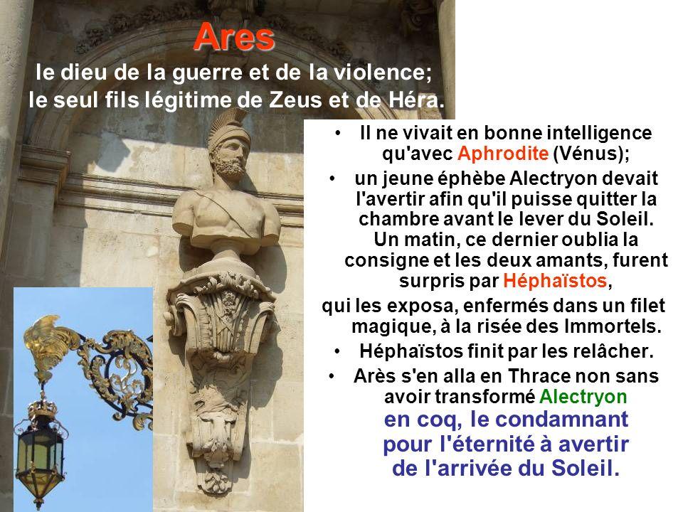 Perséphone L enlèvement de Perséphone par Hadès est le mythe le plus populaire Au moment ou elle s apprêtait à cueillir un narcisse, la terre s entrouvrit et Hadès, son oncle, apparut pour l enlever et l emmener avec lui aux enfers.