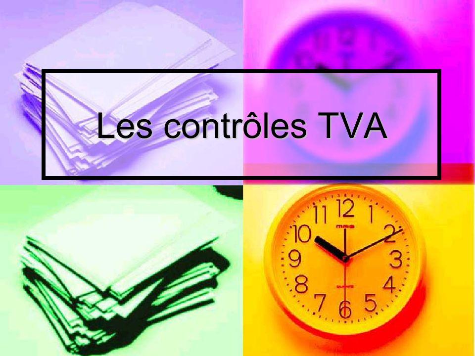 Les contrôles TVA