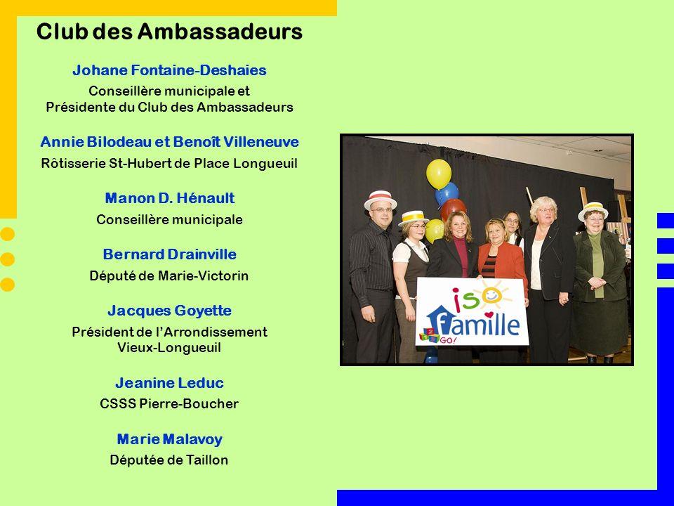 Club des Ambassadeurs Johane Fontaine-Deshaies Conseillère municipale et Présidente du Club des Ambassadeurs Annie Bilodeau et Benoît Villeneuve Rôtis